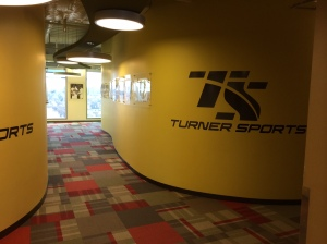 Hallway in the Turner Sports Complex.